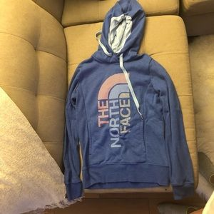 Like-new Northface Hoodie; Blue; XS